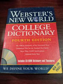 Webster's New World College Dictionary, Fourth Edition (Book with CD-ROM)韦氏新世界大学辞典  英文原版