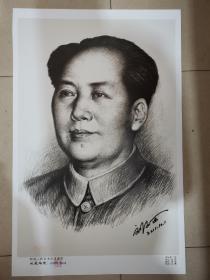 人民币毛主席创作者,。人民币同款,刘文西院长签名版主席像,签名是手写,章是盖上的,。,。,