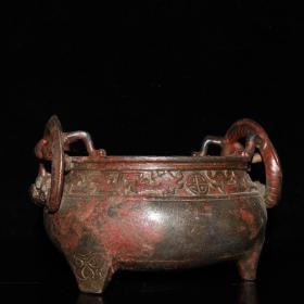 老铜香炉18✘15✘15.5厘米,重1737克