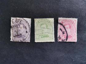 比利时邮票(人物):1915年,阿尔伯特一世国王 3枚