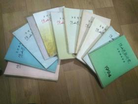 《凉山民族研究年刊》期刊杂志,共13本,原有11本后增加2本,具体期数见图片