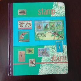 集邮册(外国邮票201张)