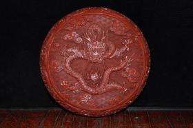 清中期漆器龙纹首饰盒
