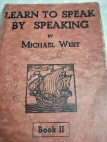 1935年版<Learn to speak by speaking﹥第二册32开