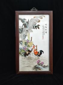 民国时期珠山八友瓷板画,纯手绘瓷板画。