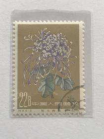 """特44《菊花》盖销散邮票18-13""""紫玉香珠"""""""