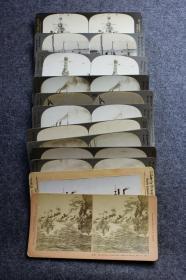清末民国时期立体照片--清末到民国初期世界各国铁甲舰军舰舰船立体照片11张,银盐和蛋白都有,大约1900年代-1920年代之间。有宾夕法尼亚号,奥林匹亚号,汉普顿号,爱荷华号,凯尔萨格号kearsarge等