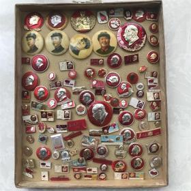 一组113枚弱品打包毛主席像章