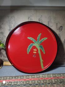 日本木胎涂漆琉球涂漆盘