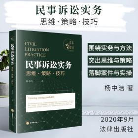 民事诉讼实务思维·策略·技巧  杨中洁著 法律出版社
