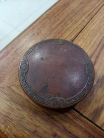 民国 紫铜化妆盒(带镜子)