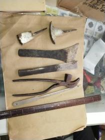 老的鞋匠工具7件套