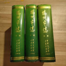 扬州市志上中下3册全  (16开精装本9品带护封)
