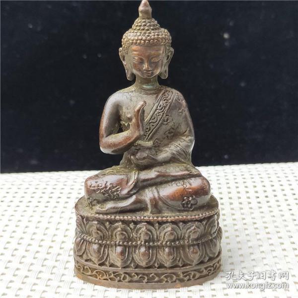 铜器财神佛像摆件古玩杂项包浆老道工艺精美鉴赏收藏