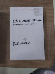 One More Thing  Stories and Other Stories