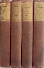 The Diary and Correspondence of Samuel  Pepys   (查理二世和詹姆士二世执政时期的海军大臣)   佩皮斯日记和书信全集  第四版  全4册 布面精装     限量豪华版   豪华版1000套之第313套     内附佩皮斯传     插图版  1911年老版书
