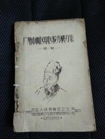 广州市西区中医验方秘方集 第一辑 油印