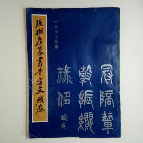 张树侯篆书千字文残卷