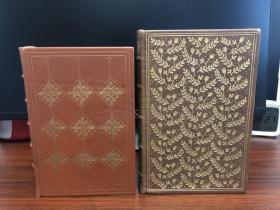 《哈克贝里芬历险记》+《格列夫游记》Franklin Library 真皮装帧限量版 2册合售