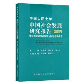 民大學會發展研究報告2019:中國的健康事業發展與醫療體制改革 社會科學總論、學術 張建明 洪大用 劉少杰