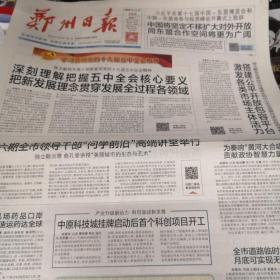 郑州日报2020年11月28日