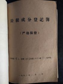 河南省开封县罗王公社胡砦大队1966年5月阶级成分登记表(第一生产队第17号~31号,第二生产队第1号~38号,第三生产队第1号~31号,第四生产队第23~39号)