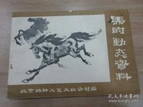 【老画谱】《马的动态资料》收录很多著名画家的习作