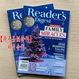 美国版 READER'S DIGEST 读者文摘2020年12/2021年1月 英文杂志