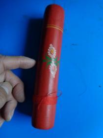 老手工针线用的绕线筒 (有绘花)