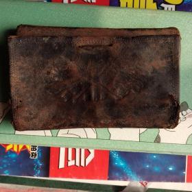 民国时期双旗图皮夹钱包