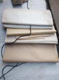 老毛边纸三尺5小刀,,3种白的,,2种黄的。