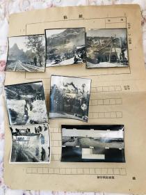 稀见新华社原版老照片,甘肃引洮工程等相关7张,多为未发表作品,五十年代末