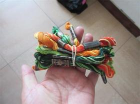 一扎老刺绣绣花线多种色收藏民风民俗历史记忆民族老服装修补材料