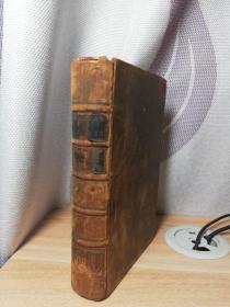 1730年  THE WORKS OF VIRGIL   BY  DRYDEN   含几十副精美插图   全牛皮装帧   卷三   含一副精美藏书票 16.6X10.6CM