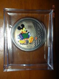 《米奇纳福》彩银纪念章一枚.