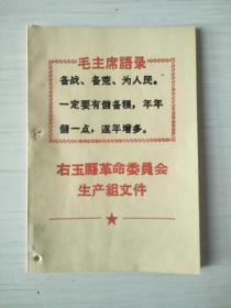 右玉县革命委员会生产组文件