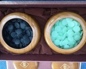 绝版仿玉色超大号围棋云子盒装版棋子直径约24mm