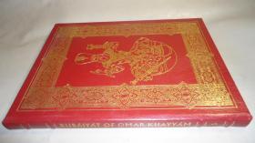 The Rubaiyat of Omar Khayyam 《鲁拜集》红色全小牛皮满堂烫金装饰插图本古董书 增补绝美彩色插图 超级大开本 品佳