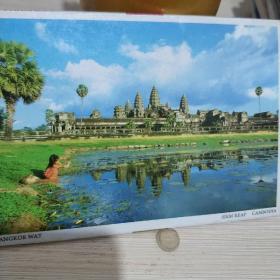 柬埔寨 暹粒 明信片10张