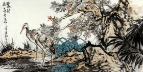 【永久保真】中美协会员 全国美展最高奖得主(两届) 栾长征 四尺整张 国画