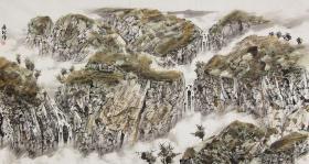 【保真 特惠】中美协会员 公安美协理事 赤峰美协副主席 王居龙 六尺整张山水4