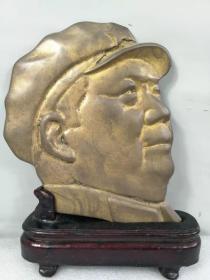 文革时期,红色收藏,铜毛主席大像章,3.9斤重。品相完整,包老,保真