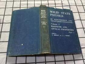 SOLID STATE PHYSICS 电子学与电讯中的固态物理 第3卷 《磁性与光学特性》上册 【英文版 M.DESIRANT AND J.L.MICHIELS著】