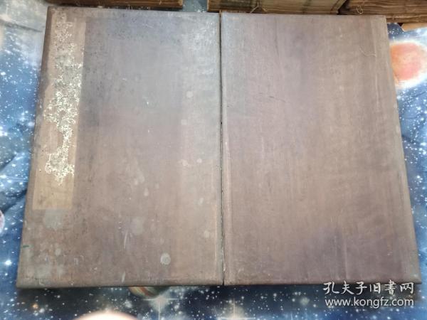 唐 颜真卿  汉东方先生  赞碑阴之记 拓本 经折页装 原装木板