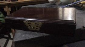 清代老红木拜帖盒(书盒)