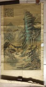 几十年绢本山水