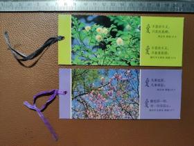 """书签:中国基督教两会出版发行的书签   """"爱不喜欢不义,只喜欢真理""""""""爱凡事包容,凡事相信""""   2张合售      盒三001"""