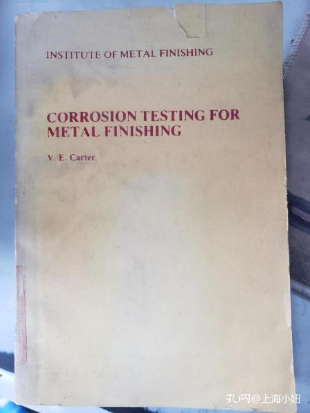 特价:CORROSION TESTING FOR METAL FINISHING