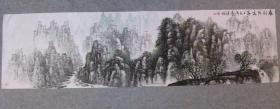国画山水 春到张家界  六尺对开横幅画心 原稿手绘真迹