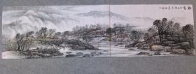 国画山水 初雪 六尺对开横幅画心  原稿手绘真迹